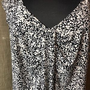 Plus Size 16/18 Black and Beige Sleeveless Top